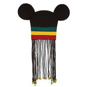 Disney Mickey Mouse Ears Rasta Reggae Beanie Braid